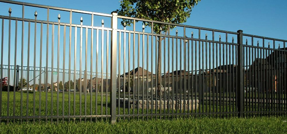 EFF 25 Elite Aluminum Fence Around Gated Community