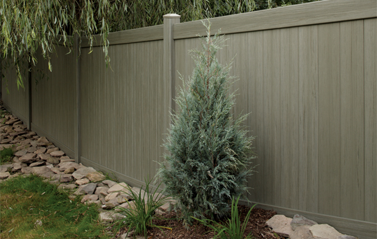 Arbor Blend Vinyl Privacy Fences by Bufftech