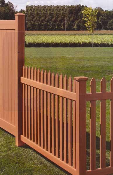 Bufftech danbury select cedar vinyl fence lowest price