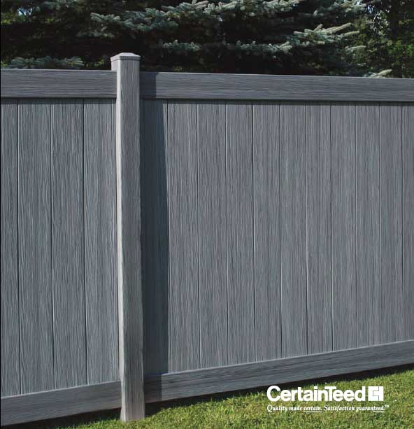 Arctic Blend Chesterfield Certagrain Vinyl Fence