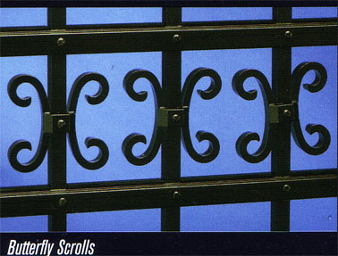 Elite Butterfly Scrolls Aluminum Fence Accents