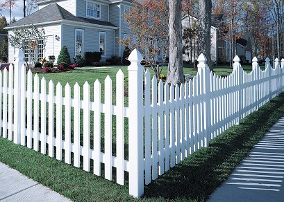 Bufftech Concave Cape Cod Vinyl Fence Discount Fence Supply