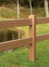 CertaGrain Wood Texture Post and Rail Vinyl Fence