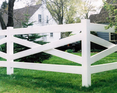 Crossbuck Vinyl Fencing by Bufftech