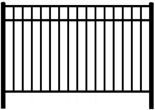 Elite EFF 20 aluminum fence styles without pickets