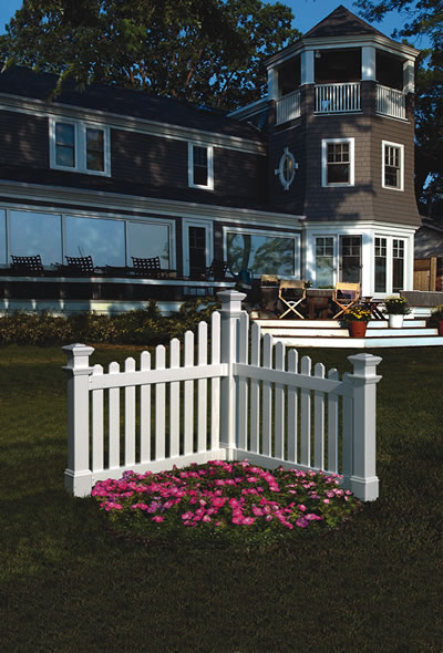 Vinyl Cottage Corner Picket Fence Fencing
