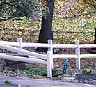 vinyl split rail fences