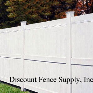 Galveston Privacy fence is the 7 and 8 foot vinyl privacy fence by Bufftech. This vinyl fencing comes with a lattice accent also.