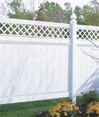 Chesterfield wth Lattice Accent Privacy Fence