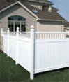 Chesterfield with victorian accent vinyl fence by bufftech