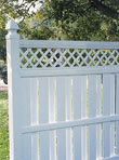 Columbia with lattice Semi Private Vinyl Fence