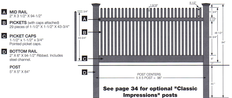 Manchester Vinyl Fence By Bufftech Discount Fence Supply